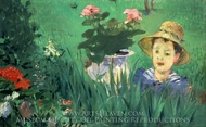 Boy in Flowers painting reproduction, Edouard Manet