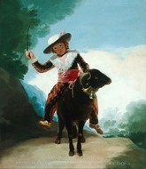 Boy on a Ram painting reproduction, Francisco De Goya
