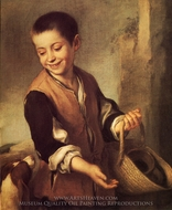 Boy with a Dog painting reproduction, Bartolome Esteban Murillo