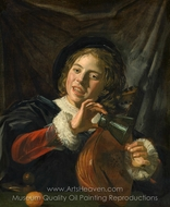 Boy with a Lute painting reproduction, Frans Hals