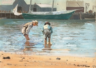 Boys Wading painting reproduction, Winslow Homer