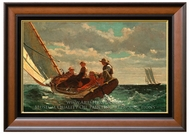Breezing Up (A Fair Wind) painting reproduction, Winslow Homer