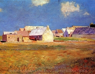 Breton Village painting reproduction, Odilon Redon