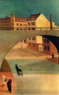 Bridge painting reproduction, Wilhelm Lachnitt