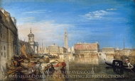Bridge of Sighs, Ducal Palace and Custom House painting reproduction, J.M.W. Turner