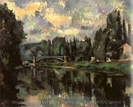 Bridge over the Marne at Creteil painting reproduction, Paul Cézanne