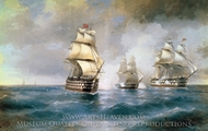 Brig Mercury Being Attacked by Two Turkish Ships painting reproduction, Ivan Aivazovskiy