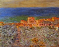 Burgo Marina at Bordighera painting reproduction, Claude Monet