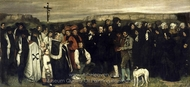 Burial at Ornans painting reproduction, Gustave Courbet