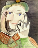 Buste de Femme (Marie-Therese Walter) painting reproduction, Pablo Picasso (inspired by)