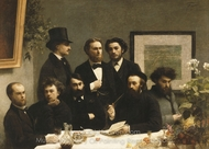 By the Table painting reproduction, Henri Fantin-Latour
