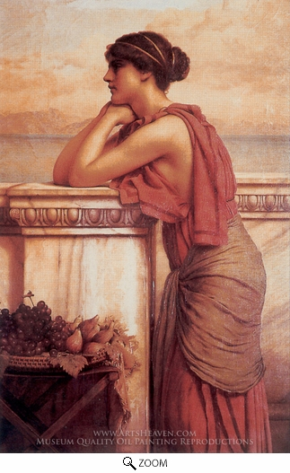 John William Godward, By the Wayside oil painting reproduction