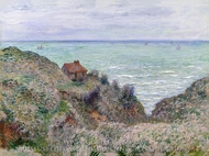 Cabin of the Customs Watch painting reproduction, Claude Monet