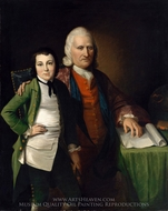Cadwallader Colden and His Grandson Warren De Lancey painting reproduction, Matthew Pratt