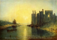 Caernarvon Castle painting reproduction, J.M.W. Turner