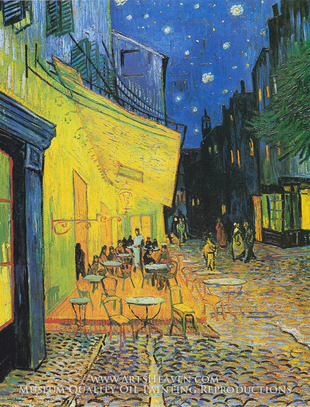 Vincent van gogh cafe terrace at night cafe terrace van for Terrace night