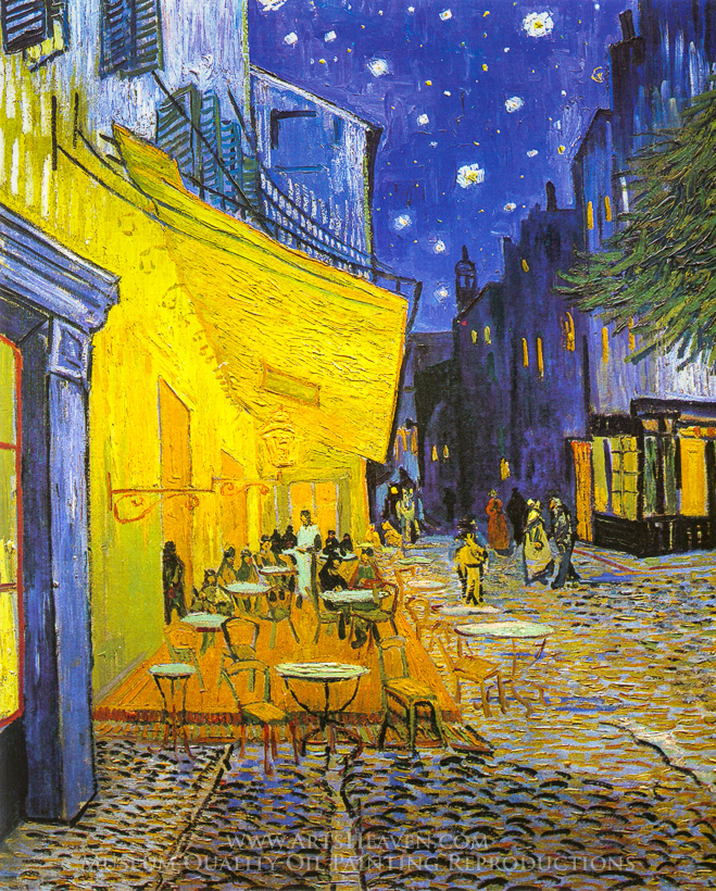 vincent van gogh cafe terrace at night Cafe terrace at night (van gogh) poster - at allposterscomau choose from over 1,000,000 posters & art prints value framing, fast delivery, 100% satisfaction guarantee.
