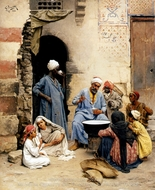 Cairo painting reproduction, Ludwig Deutsch