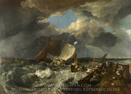 Calais Pier painting reproduction, J.M.W. Turner