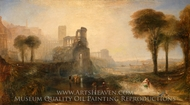 Caligula's Palace and Bridge painting reproduction, J.M.W. Turner
