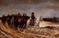 Campaign in France painting reproduction, Ernest Meissonier
