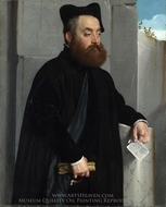 Canon Ludovico di Terzi painting reproduction, Giovanni Battista Moroni
