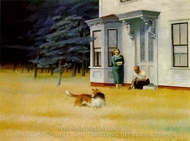 Cape Cod Evening painting reproduction, Edward Hopper