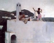 Capri painting reproduction, John Singer Sargent