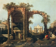 Capriccio: Ruins and Classic Buildings painting reproduction, Canaletto