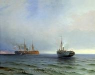 Capture of Messina painting reproduction, Ivan Aivazovskiy