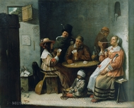 Card Players painting reproduction, Josse Van Craesbeeck