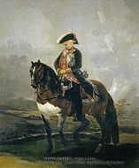 Carlos IV on Horseback painting reproduction, Francisco De Goya