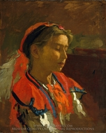 Carmelita Requena painting reproduction, Thomas Eakins