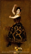 Carmencita painting reproduction, William Merritt Chase