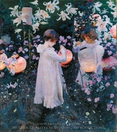 Carnation, Lily, Lily, Rose painting reproduction, John Singer Sargent