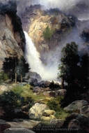 Cascade Falls, Yosemite painting reproduction, Thomas Moran