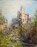 Castle on a Hill painting reproduction, Various Artist