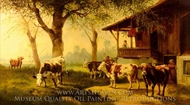 Cattle on a Pasture painting reproduction, Rosa Bonheur