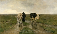 Changing Pasture painting reproduction, Anton Mauve