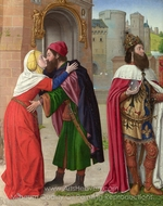 Charlemagne and the Meeting at the Golden Gate painting reproduction, Jean Hey
