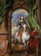 Charles I with M. de St Antoine painting reproduction, Sir Anthony Van Dyck