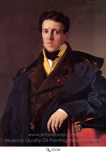 Jean Auguste Dominique Ingres, Charles-Marie-Jean-Baptiste Marcotte oil painting reproduction
