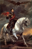 Charles V on Horseback painting reproduction, Sir Anthony Van Dyck