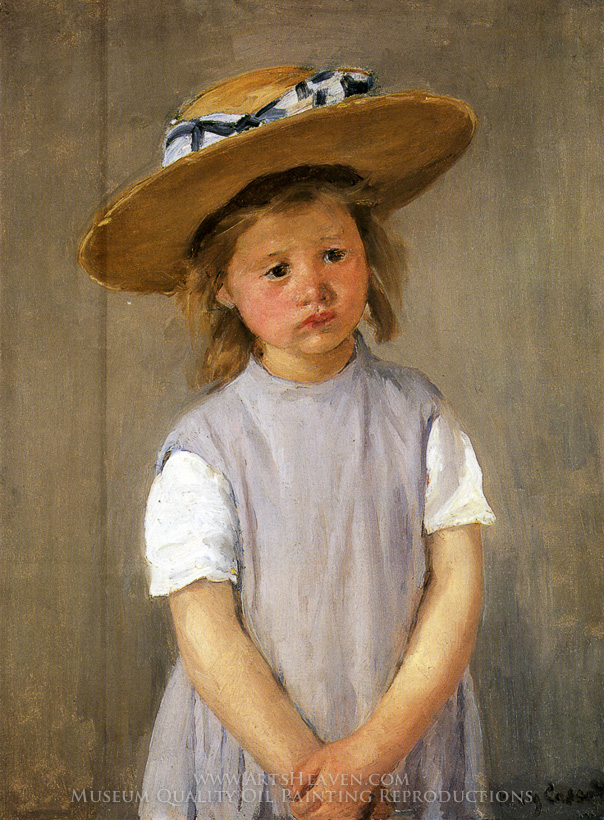 Reproduction Painting Mary Cassatt Child In A Straw Hat