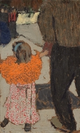 Child Wearing a Red Scarf painting reproduction, Édouard Vuillard