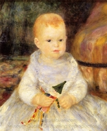 Child with Punch Doll painting reproduction, Pierre-Auguste Renoir