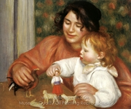 Child with Toys (Gabrielle and Jean) painting reproduction, Pierre-Auguste Renoir