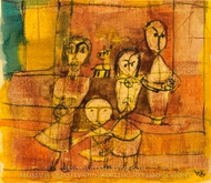 Children and Dog painting reproduction, Paul Klee