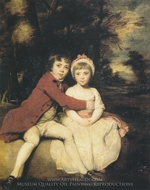 Children of John Parker, 1st Earl of Morley, with His Sister Theresa Parker painting reproduction, Sir Joshua Reynolds