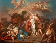 Children of Niobe painting reproduction, Jacques-Louis David